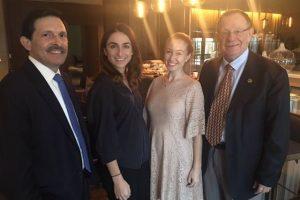 Henry Grinberg, Stephanie Essenfeld, Adrian Essenfeld and Prof. Rafi Beyar