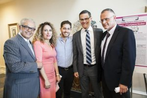 The Melamed Family with Israel Consul General David Siegel and Rambam's Prof. Karl Sckorecki